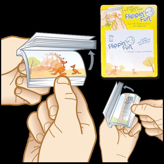 Flippin Fun Aussie Flip Animated Note Pads