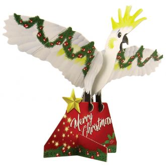 Christmas Cockatoo Doodad