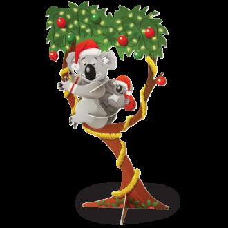 Christmas Koala Doodad