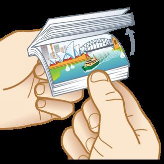 Sydney Harbour Ferry Fun Aussie Flip Animated Note Pad