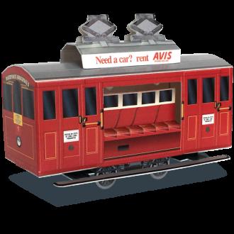 Wellington Cable Car Cardboard Model
