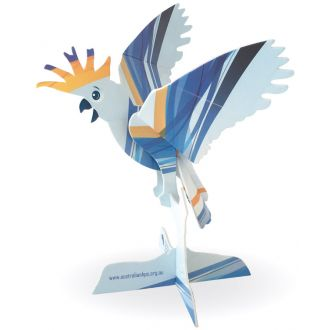 Custom Cockatoo 3D Construction Card