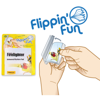 Davey 'Flippin' Fun Flip Animated Note Pad