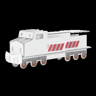 Custom Cardboard Diesel Train